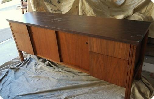Repurposed Credenza - this is the Before of before and after