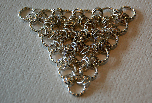 Sample of Chain Maille created and photographed by Clair