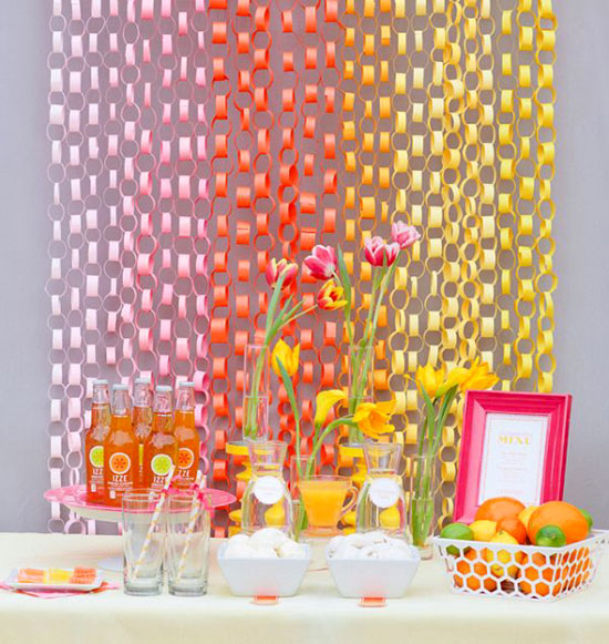 do it yourself paper chain or garland