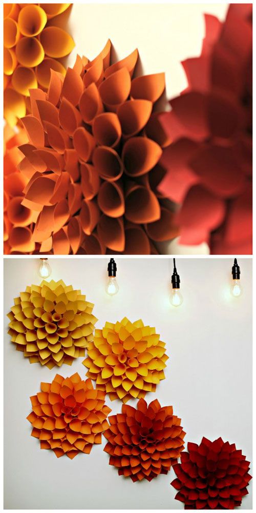 Paper Dahlias - do it yourself paper craft