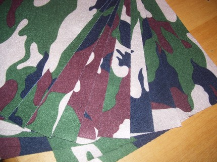 Camouflage pattern eco-felt made from recycled bottles