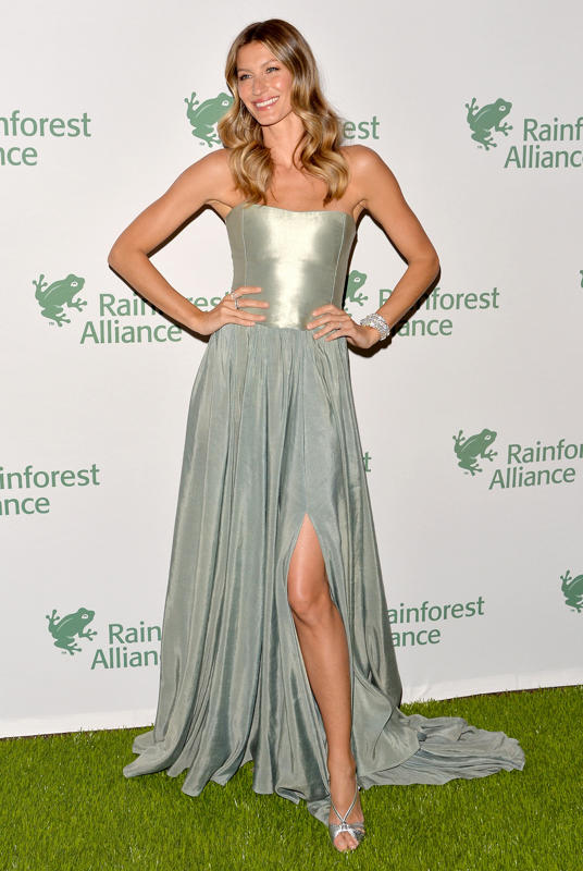 Gisele Bundchen in sustainable hemp gown