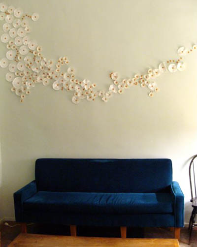Wall Art using coffee filters - reuse, rethink, recycle