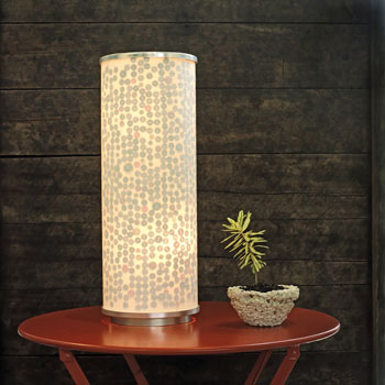 Ikea Lamp with Buttons - Do it Yourself Project found on Daily Decorator