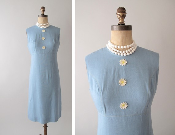 Light Blue Vintage Dress from RaleighVintage on Etsy