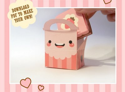 Do It Yourself Smiley Cake Box