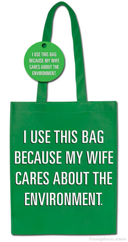 Eco friendly shopping bag - that guys can use