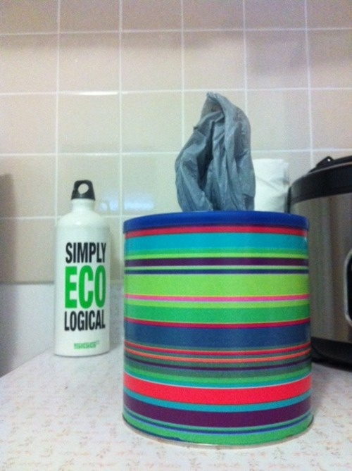 recycled coffee can storage