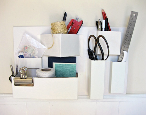 Recycled Paper Organizer - do it yourself and save