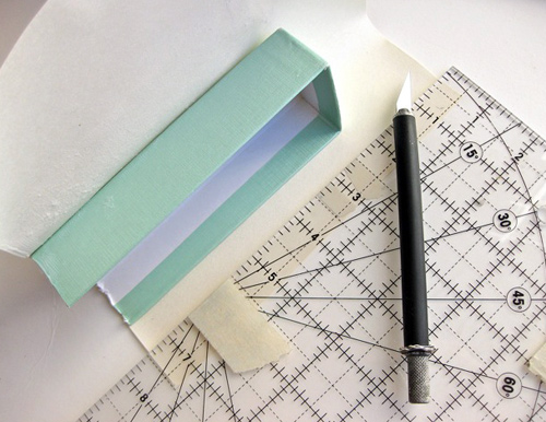 How to cut the boxes for your recycled paper organizer
