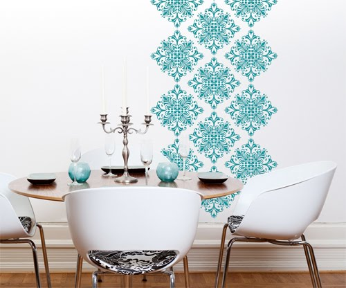 do it yourself wall decoration.... stencils in your color