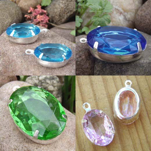 Vintage Glass Jewels in my Etsy shop