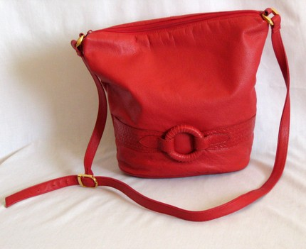 Vintage Red Leather Bag