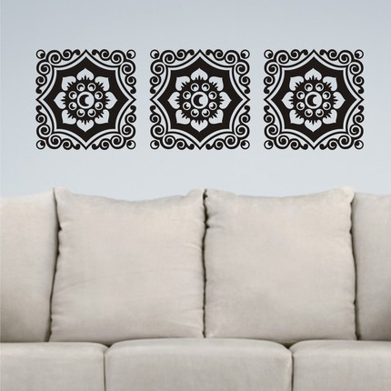 Wall Art Vinyl Stickers for Grown Ups Paper Jewels