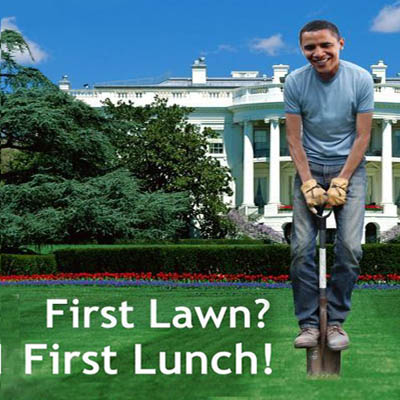 Humor is always of the good - Obama, gardening at the White House