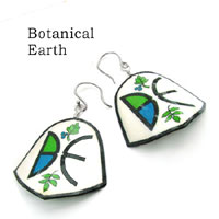 Botanical Earth logo earrings