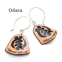 logo earrings for Odara Designs
