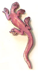 dark pink lizard pin